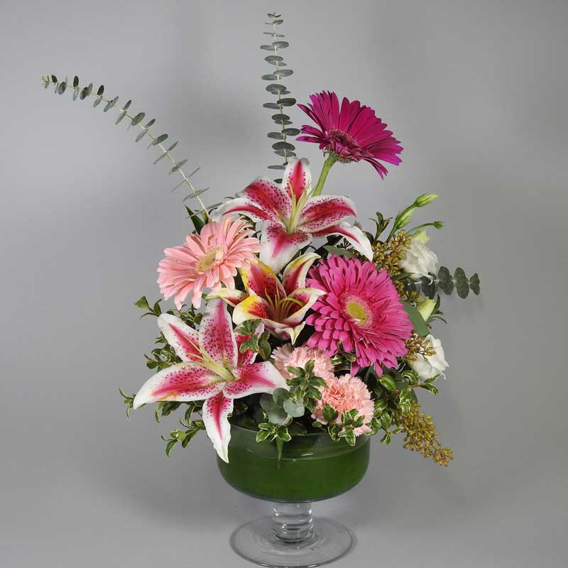 Porterfield's Flowers Valentine's Day arrangement, Post Pink